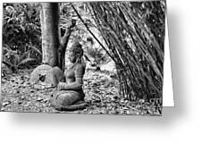 Buddha Black White Liberia Parish  Greeting Card