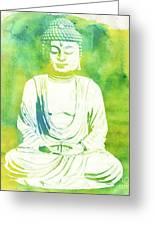 Buddha By Raphael Terra Greeting Card