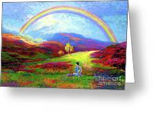 Buddha Chakra Rainbow Meditation Greeting Card