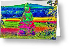 Buddha Dreaming Greeting Card