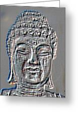 Buddha Head 3 Greeting Card