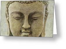 Buddha Head Greeting Card by M Montoya Alicea