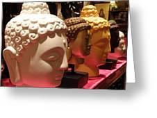 Buddha Heads Greeting Card