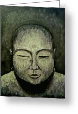 Buddha In Green Greeting Card