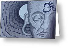 Buddha In Ink Greeting Card