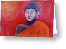 Buddha In Red Greeting Card