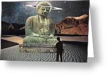 Buddha In Saturn Greeting Card