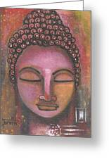 Buddha In Shades Of Purple Greeting Card