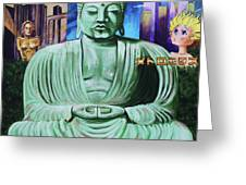 Buddha In The Metropolis Greeting Card