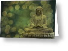 Buddha Light Gold Greeting Card