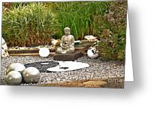 Buddha Looks At Yin And Yang Greeting Card