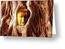 Buddha Of The Banyan Tree Greeting Card