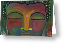 Buddha Painting Greeting Card by Prerna Poojara