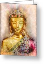 Buddha Peace Love And Light Greeting Card