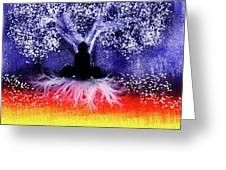 Buddha Under The Wisdom Tree Greeting Card