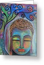 Buddha With Tree Of Life Greeting Card