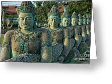 Buddhas All In A Row Greeting Card