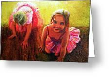Budding Ballerinas Greeting Card