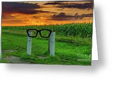 Buddy Holly Glasses Greeting Card