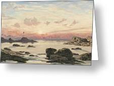 Bude Sands At Sunset Greeting Card by John Brett