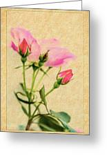 Buds And Bloom - Rose Floral Greeting Card