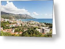 Budva Along The Adriatic Sea In Montenegro Greeting Card