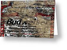 Budweiser Wood Art 5c Greeting Card