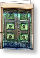 Buenos Aires Church Crypt Door Greeting Card