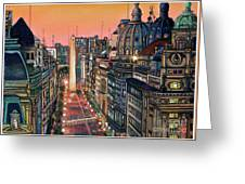 Buenos Aires Twilight Greeting Card