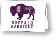 Buffalo Barbecue Greeting Card