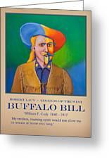 Buffalo Bill Poster Greeting Card