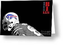 Buffalo Bills Football Team And Original Typography Greeting Card