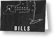 Buffalo Bills / Nfl Football Art / Orchard Park New York Greeting Card by Damon Gray