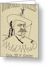 Buffalo Bill's Wild West - American History Greeting Card