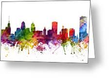 Buffalo Cityscape 06 Greeting Card