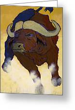 Buffalo Fury Greeting Card