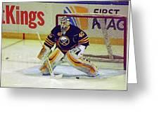 Buffalo Goalie  Greeting Card
