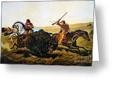 Buffalo Hunt, 1862 Greeting Card