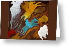 Buffalo Hunt  -021 Greeting Card