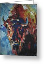 Buffalo In Blue Greeting Card