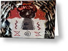 Buffalo Man Greeting Card