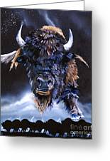Buffalo Medicine Greeting Card