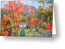 Buffalo Mountain In Fall Greeting Card