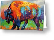 Buffalo On Weed Greeting Card