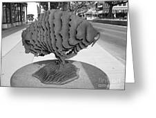 Buffalo Sculpture Grand Junction Co Greeting Card