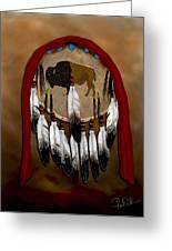 Buffalo Shield Greeting Card