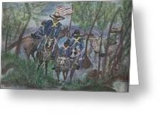 Buffalo Solders Greeting Card