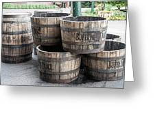 Buffalo Trace Barrels Greeting Card
