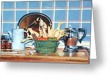 Buffet Still Life Greeting Card