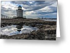 Bug Light Clouds And Reflection Greeting Card